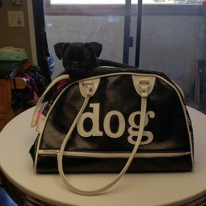 Handbags - PU leather dog carrier DOG monogrammed